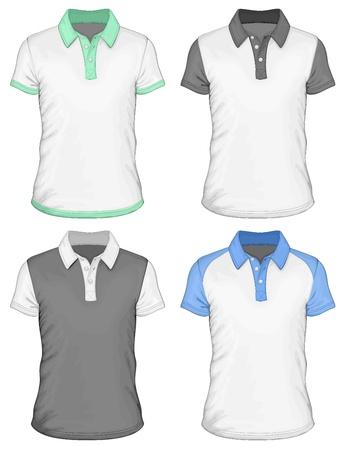 Mannen s polo-shirt ontwerp sjablonen