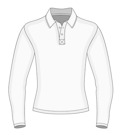 Men's long sleeve polo shirt design templates Vector