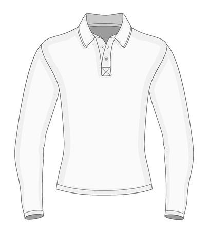 Mens long sleeve polo shirt design templates