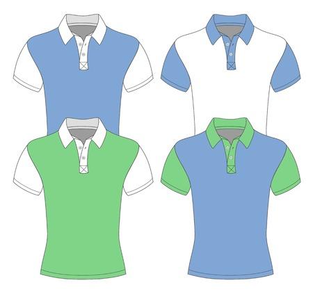 Polos de manga corta camisa de plantillas de diseño para hombres