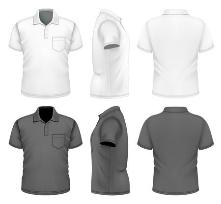 tshirts: Mens polo-shirt design template Illustration