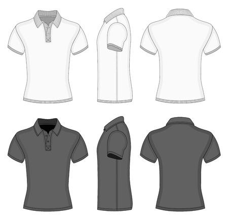 남성 폴로 셔츠와 티셔츠 디자인 템플릿 일러스트