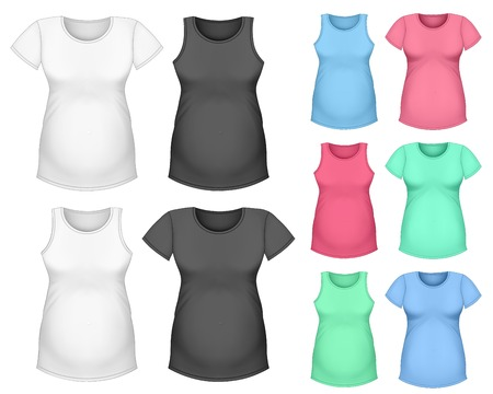 tank top: Maternity short sleeve t-shirt and top tank Illustration