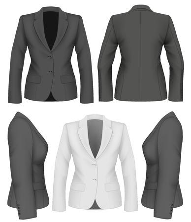 Ladies suit jacket for business women. Vector illustration.
