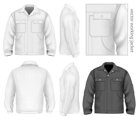 workwear: Men work jacket. Illustration