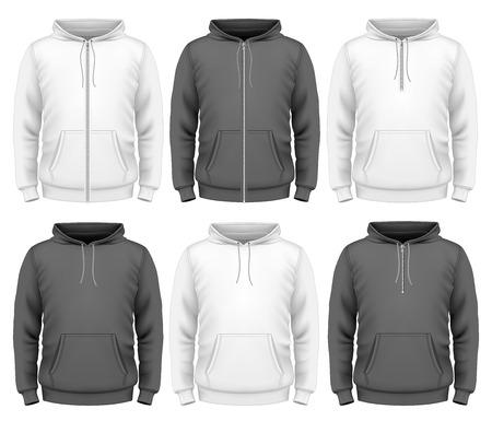 sweatshirt: Hombres sudadera con capucha Vectores