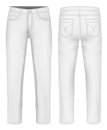 man rear view: Men jeans Illustration
