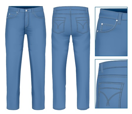 blue jeans: Men jeans Illustration