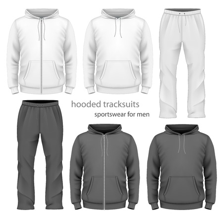 zip: Men hooded tracksuit.