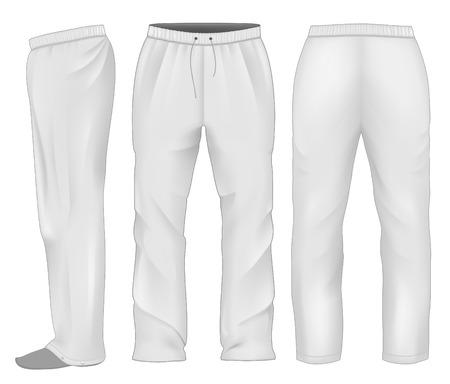 man side view: Men sweatpants white.
