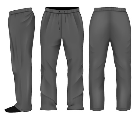 Men sweatpants black Stock Illustratie