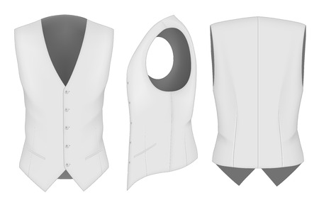 waistcoat: Men waistcoat for business men Illustration