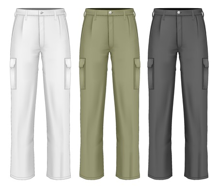 Men work trousers. Illustration