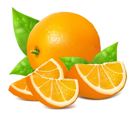 dewdrop: Fresh ripe oranges