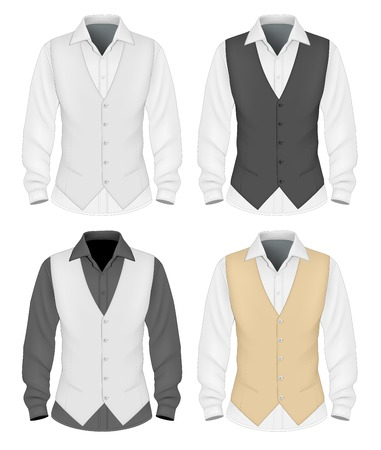 formal attire: Formal wear for men Illustration
