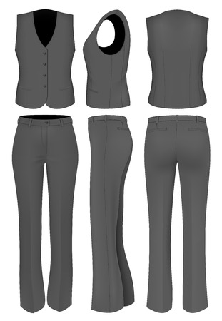 trousers: Formal black trousers suit for women