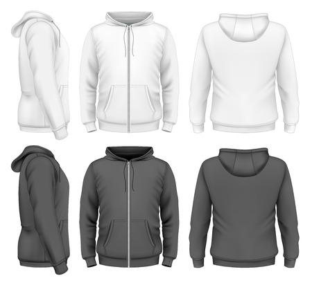 sweatshirt: Hombres con capucha Vectores