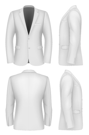 formal attire: Formal Business Suits Jacket for Men Illustration