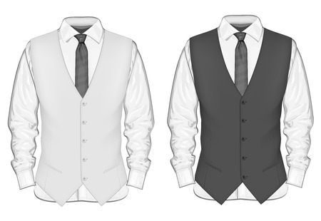 office uniform: Formal wear for men. Illustration