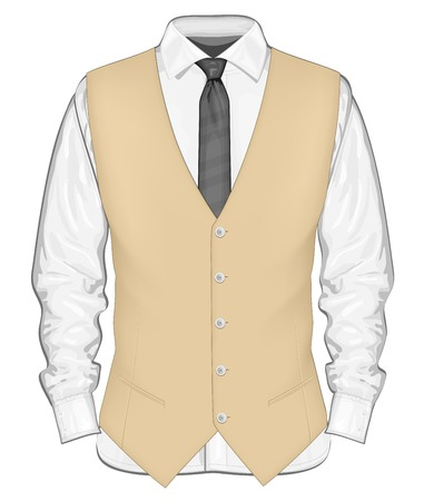 formal: Formal wear for men. Illustration