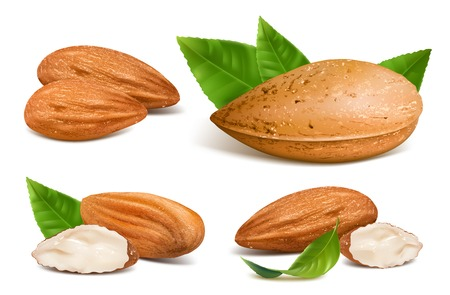 Almonds with kernels