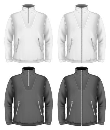 メンズ フリース セーターのデザイン テンプレート