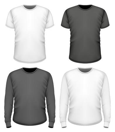 long sleeve: Men t-shirt short and long sleeve