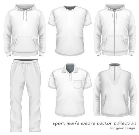 Los hombres del deporte desgaste colección. Ilustración de vector