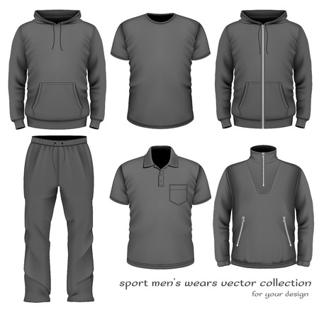 Sport mannen dragen collectie. Stock Illustratie