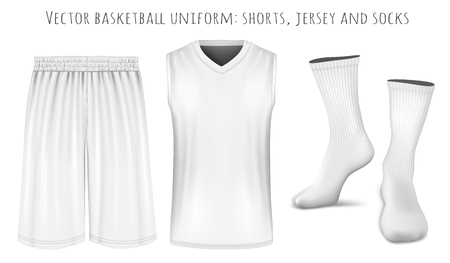 breathable: Basketball uniform. Fully editable handmade mesh. Vector illustration Illustration
