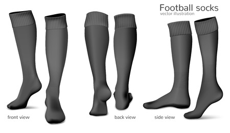 Football socks. Fully editable handmade mesh. Vector illustration
