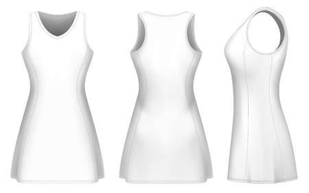 Netball dress vector templates for your design. Fully editable handmade mesh. Vector illustration. Çizim