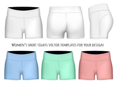 tights: Women short tights. Fully editable handmade mesh. Vector illustration.