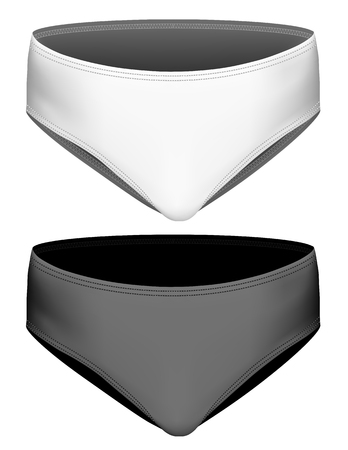 briefs: Childrens briefs. Classic girls briefs. Vector illustration. Fully editable handmade mesh.