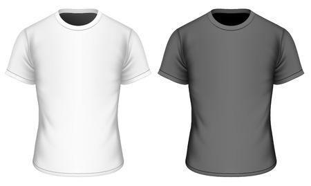 T-shirt for boys. Childrens t-shirt. Fully editable handmade mesh. Vector illustration. Ilustracja