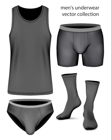 white singlet: Undergarment collection for men.