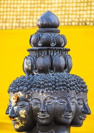 Buddha black yello thailand statue photo