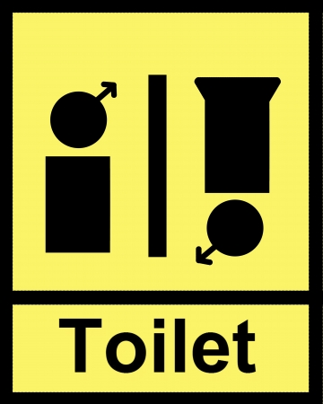 toilet in yellow background photo