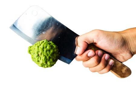 Knife chopped lime