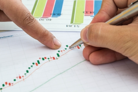 chart with brainstorming Stock Photo