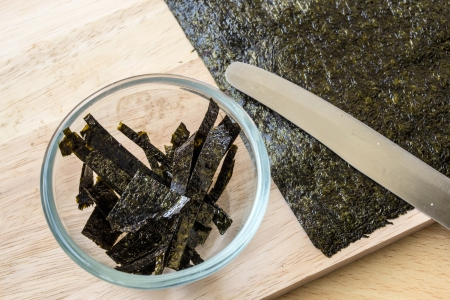 Seaweed, then cut in glass photo