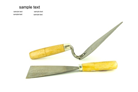 lute: lute trowel tool for construction in white back ground