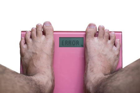 bathroom scale: Overweight on the scale