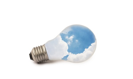 lamp of sky on isolate background