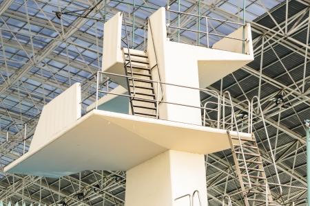 springplank: Op naar de springplank Stockfoto