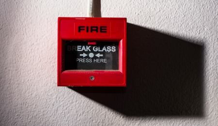 old button fire alarm photo