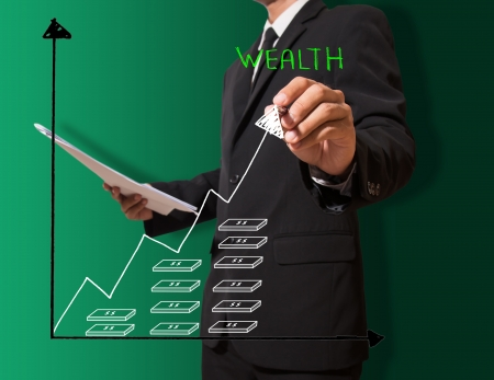 businessman drawing graph Stock Photo - 22216591