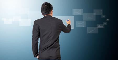 businessman analyze graph photo