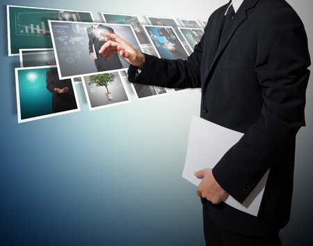 business with digital picture high technology concept photo