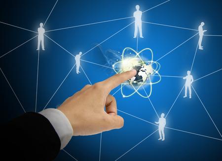 Touch-Welt-Verbindung von Business- Standard-Bild - 27357190